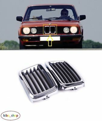 Bmw 5 E28 1981 - 1987 New Front Radiator Grill Grille Chrome Black - 51131873253