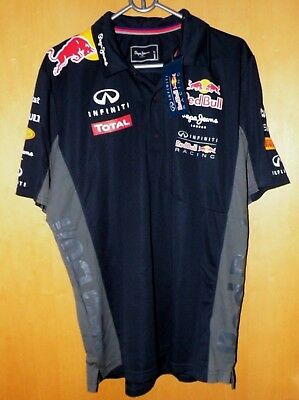 Red Bull Racing F1 Team Pepe Jeans Poloshirt Herren Gr.XL Neu.