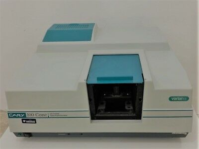 Varian Cary 100 Conc UV-Visible Spectrophotometer, Ship World Wide.