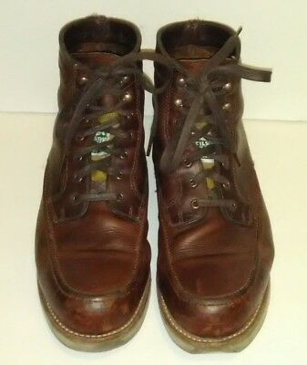 aabd7357718 WOLVERINE 1000 MILE W00283 Emerson Brown Leather Moc Toe Boots Mens 11-1/2 D