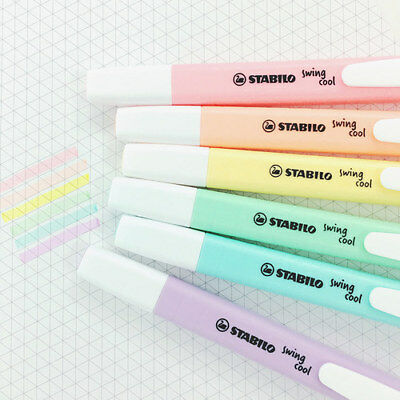Stabilo Pastel Color Swing Cool Pocket Highlighter Marker Colour Office School