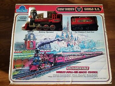 Walt Disney World R.R. Train Set Rechargeable Wireless Infra- Red Remote Control