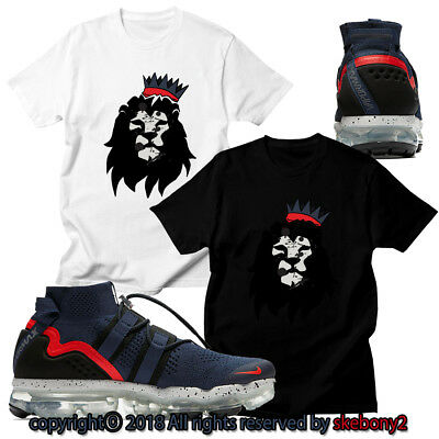 90b068ae1a317 NEW CUSTOM T SHIRT matching Nike Air VaporMax Utility College Navy AVPU 1-4-