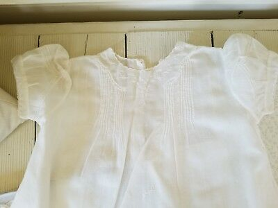 Antique Vintage Baby Baptismal Christening Gown and Slip in Box, Never Been Worn
