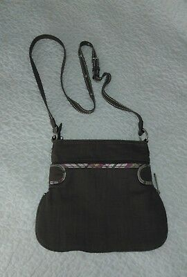 Thirty One Retired Pop Crossbody Purse in *Retired* PAINTED FLORAL PLAID Rare!