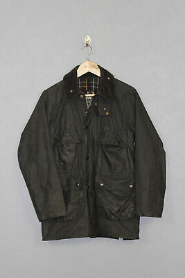 Vintage Mens Barbour Bedale Wax Jacket Green