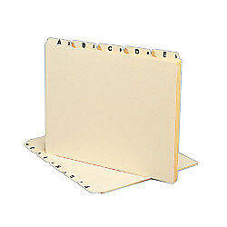 Smead(R) Manila A To Z File Guides, Letter Size, Manila, Pack Of 25
