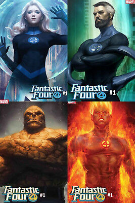 Fantastic Four #1 Artgerm 4 Pack Variant Set Marvel Comics 2018