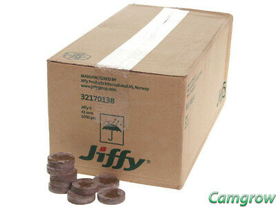 Jiffy 7 Peat Pellets ( 41mm wet/ 38mm dry ) For Seeds / Cuttings 10 to 1000 Box