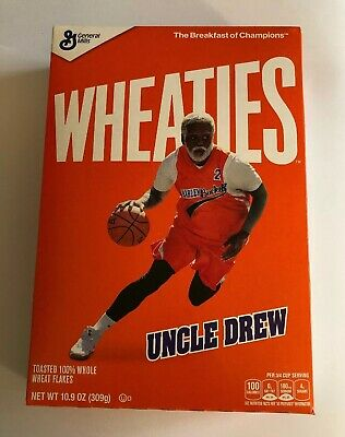 Wheaties KYRIE IRVING UNCLE DREW MOVIE Breakfast Cereal 10.9 oz Box