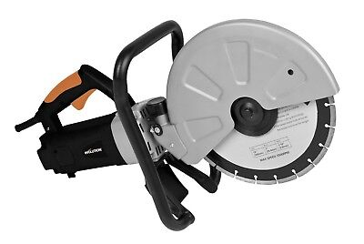 Disc Cutter Diamond Blade Corded Power Tool Saw 12 in.Cut Concrete Stone Brick