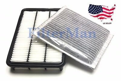 Engine Air Filter & Carbonized Cabin Air Filter For Lexus RX300 99-03 US Seller