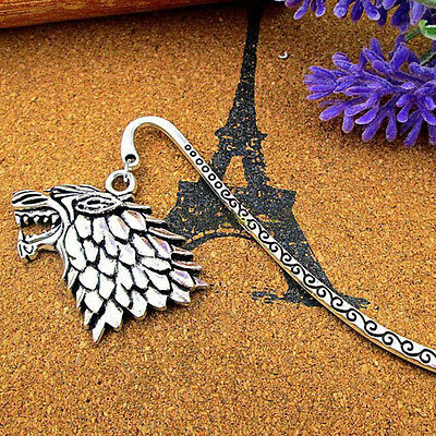 Game of Thrones House Stark Dire Sigil Wolf Metal Bookmark Winter Is Coming Gift
