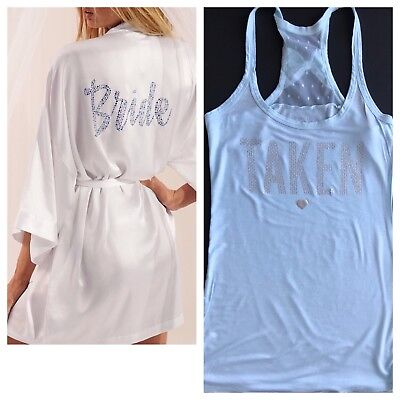 Victorias's Secret Bride Robe Bling And Taken Tank Top S