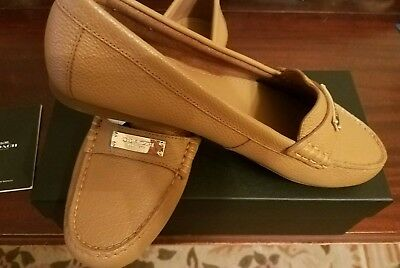 1a74c32e6f0 NEW Coach Fredrica SZ 10 M Flats Loafer Ginger Brown Pebble Leather New  w Box