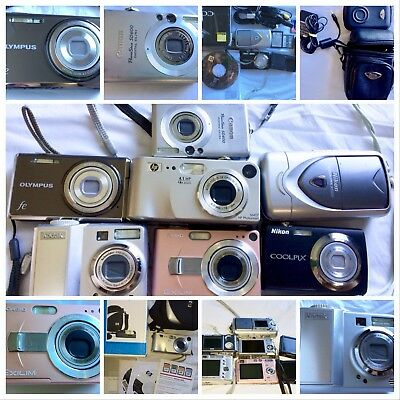 Lot of 7 As Is/Untested Digital Cameras - Canon, Kodak and Nikon- LOT