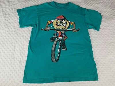 Vintage 1995  Looney Tunes T-Shirt Tazmanian Devil Bike