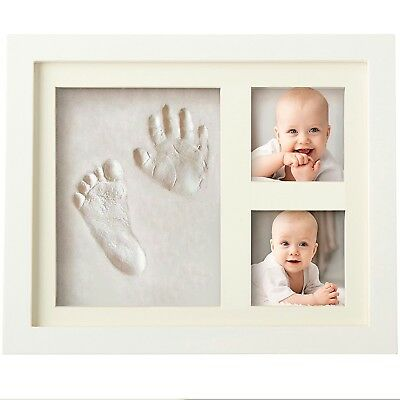$38 BOGO Baby Hand Foot Paw Clay Print Photo Frame Girl Boy Pet Dog Unique Gift