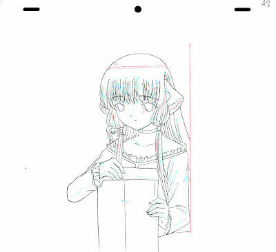 SALE! Anime Douga Not Cel: Chobits #112 (Set of 1 Production Sketch)