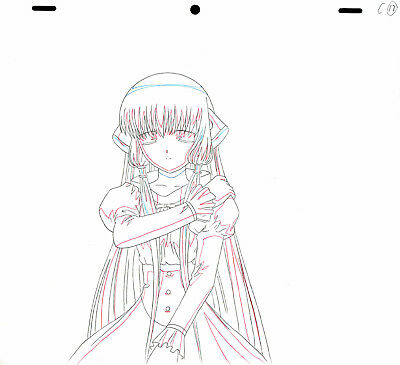 SALE! Anime Douga Not Cel: Chobits #114 (Set of 1 Production Sketch)