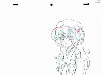 SALE! Anime Douga Not Cel: Higurashi no Naku Koro ni Rei #160 (1 Sketch)