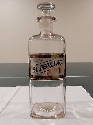 ANTIQUE 1889 W.T.CO. APOTHECARY (Pharmacy) BOTTLE