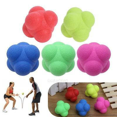 Silicone Hex Reaction Ball Speed Agility Reflex Skill Fittness Training Aid Ball