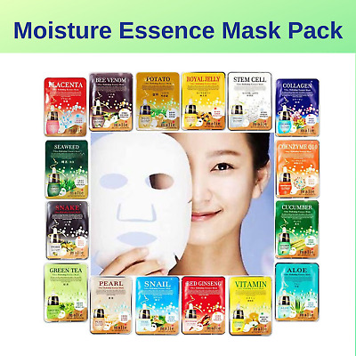 7 Moisture Essence Face Mask Pack Sheet Facial Skin Care Korea Beauty Cosmetics