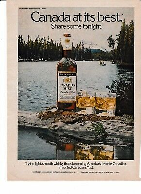 Canadian Mist Whisky, Turner Lake BC Original AD