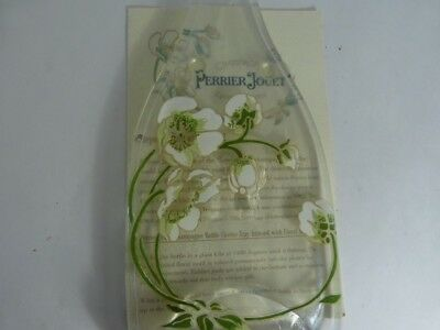 Perrier Jouet Champagne Bottle Cheese Tray Infused with Floral Design Info Incl.