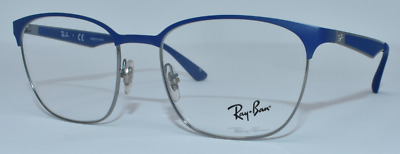 845eaeef69 New Authentic Ray Ban Unisex Eyeglasses Rb6356 2876 Gunmetal blue 52-18-145