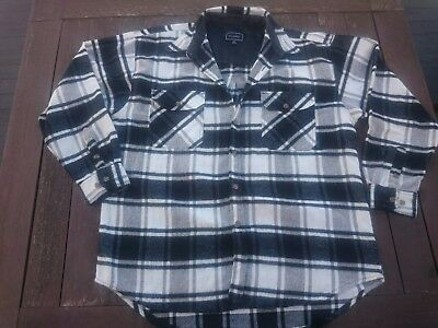 Mens Vintage Plaid Shirt Size XL
