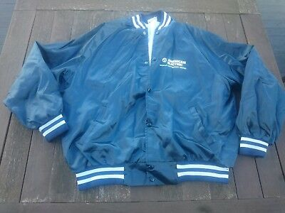 Vintage Mens Silk Bomber Jacket Size XXL Made In U.S.A