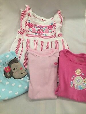 Baby Girl Size 6 Months Gently Worn Assorted Lot of 4 Darling Baby Clothes
