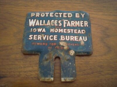 1920's Wallace Farmer Iowa Homestead Service Bureau Sign