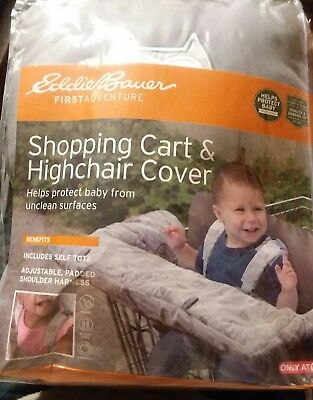 Eddie Bauer BABY SHOPPING CART HIGHCHAIR COVER Gray Brown Owl Deer Forest Unisex