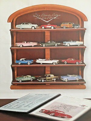 Franklin Mint The Classic Cars Of The Fifties Wooden Display Stand (1989)