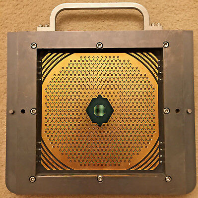 RARE Vintage IBM supercomputer Gold Silicon Wafer collectible CRAY CPU Memory IC