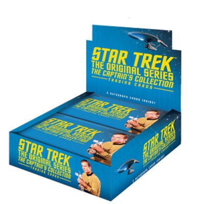 2 x Star Trek TOS The Captain`s Collection Trading Card Box + Promo P1 and P2
