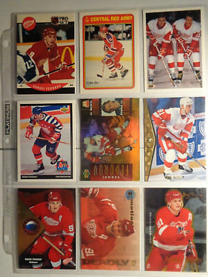 Sergei Fedorov Lot of 18 with 1990-91 Pro Set Rookie & 90-91 OPC #19R