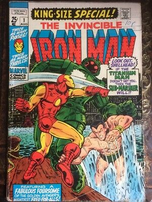 Invincible Iron Man #1 Special King Size Issue -see Pics / Cover For Providence