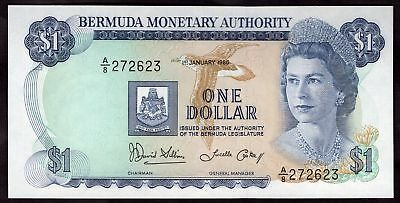 Bermuda: Monetary Authority. One dollar, 1-1-1986. Series A/8. (Pick; 28c), A...