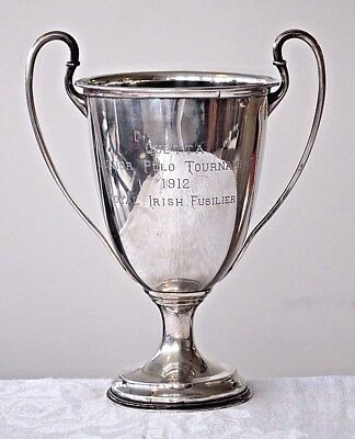 Antique sterling silver Quetta Polo tournament trophy 1912 Royal Irish Fusiliers