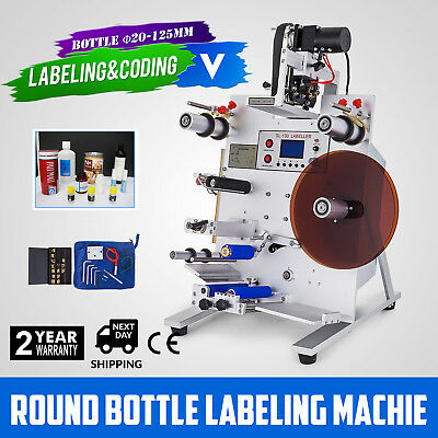 150W Round Bottle Labeling Machine Labeler Semi-Automatic Digital Electric