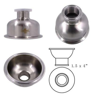 "HFS (R) 1.5"" x 4"" Sanitary Tri Clamp Bowl Reducer- Stainless"
