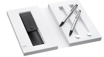 Lamy  Logo Brushed Steel Ballpoint Pen & Mechanical Pencil Gift Set