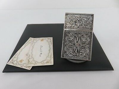 Chinese Export Sterling Silver Filigree Card Case, c1870s
