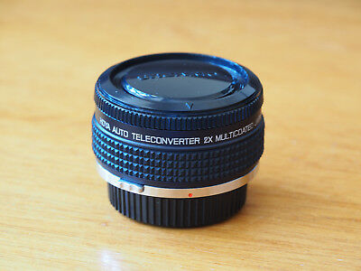Hoya Auto Multicoated 2x teleconverter with case. Olympus OM fit