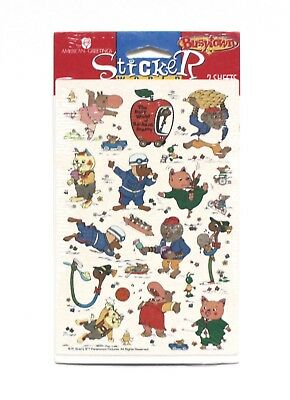 VTG American Greetings Sticker World Busy World Richard Scarry Busytown 2 Sheets