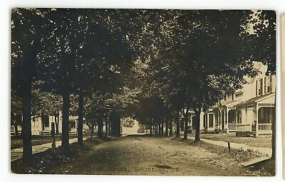 RPPC Street in HALLSTEAD PA Susquehanna County Pennsylvania Real Photo Postcard